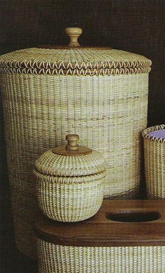 Nantucket Hamper--these are beautiful. my mother in law made me a nantucket salad bowl with salad dishes. Very expensive Nantucket Baskets, Nantucket Island, Old Baskets, Wicker Baskets, Rattan, Basket Bag, Weaving Art, Cape Cod, Basket Weaving