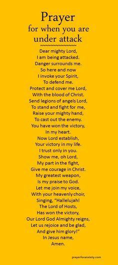 Learn how to fight the good fight with this prayer for when you are under attack.