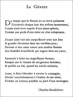 Baudelaire - La Géan