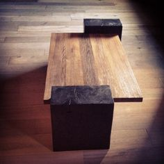 modern rustic coffee table. Ben Riddering design & woodcraft