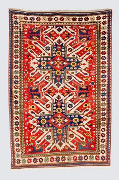 Caucasian-Chelaberd Karabagh-rug  around 1880, ghiordes-knot, modified at the end 227*145 cm