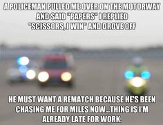 Cops don't have a sense of humor