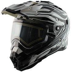 88a40614 Details about Snow Master TX27 White Black DualVisor Full Face Heated Shield  Snowmobile Helmet