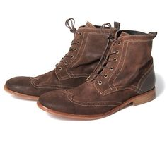 Reswick suede boots in brown by Husdon.