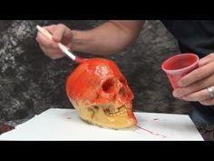 Mold Making Tutorial: 1 Piece Gel-10 Skull Mold - YouTube