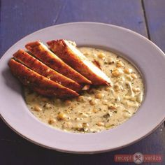 Csicseriborsó főzelék csirkemellel Lidl, Cheeseburger Chowder, Risotto, Toast, Soup, Breakfast, Healthy, Ethnic Recipes, Main Courses