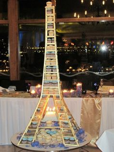 Eiffel Tower Cupcakes. I'm gonna do this on my bday . Lol