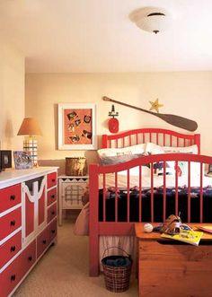 33 Excellent Boys Room Design Ideas: 33 Excellent Boys Room Design Ideas With Red Wooden Bed And Wooden Storage And Oark Decor