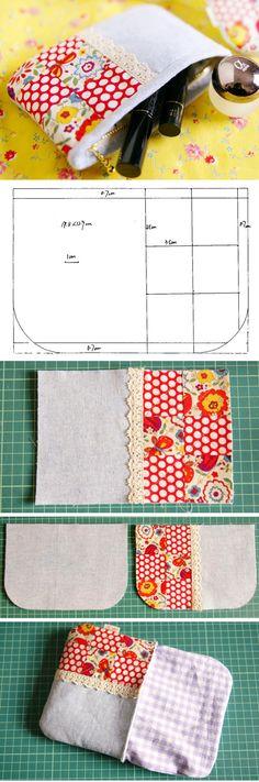 How to sew a fabric pouch * das bild mit dem schrägband und rv mal probieren bei nicht so kleinem