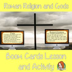 Roman Religion and Gods - Boom Cards Digital Lesson Teaching History, Teaching Kids, Teaching Resources, Roman Gods, Planning And Organizing, Social Studies, Lesson Plans, Religion, Teacher