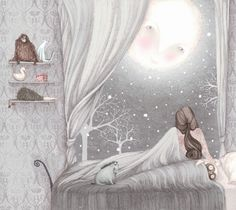 Firefluff Blog: Sophie and the moon / Commission for Nordstrom Lisa Evans