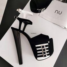 High Platform Shoes, Sandals Platform, High Heels Stilettos, Shoes Heels, Club Shoes, Super High Heels, Long Boots, Photo Colour, Ankle Strap