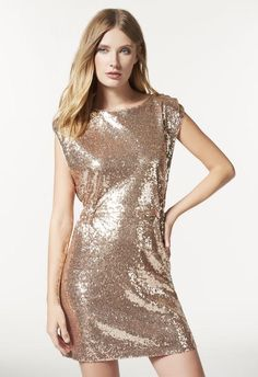 Looking for the perfect holiday dress? This easy sequins dress is perfect for your next soiree.  l  JustFab