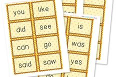 Free Printable Sight Word Cards {+25 Games}