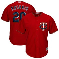 1549906a6 Eddie Rosario Minnesota Twins Majestic Alternate Cool Base Replica Player  Jersey - White