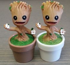 Oh Groot, you are so tiny and cute as a baby. But boy do you grow up to be something marvelous! These tiny baby Groot figures are great for many
