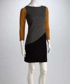Take a look at this Jessica Howard Black & Gray Colorblock Dress by Gorgeous Gray: Apparel, Accents & Shoes on #zulily today!