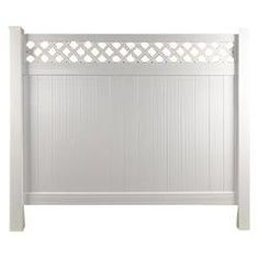 "Longevity Privacy Top Panel W/ Lattice Fence White Panel / 72""x96"" Sku: 10095163"