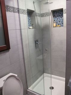 stand up shower designed and installed by new york design and
