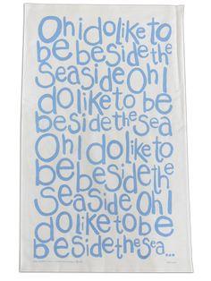 Pale Blue Oh I do... Tea-Towel
