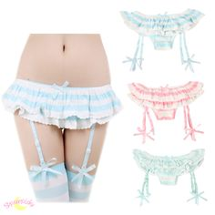 Color blue is pre-order till May, 2015. Made of Modal cotton size reference: M~L Hip within 80~98cm Strap is adjustable, max can be 48cm with stretch Colors: pink/blue/mint Thanks for the model photo from Riri-Chan.
