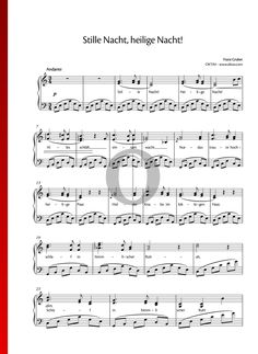Stille Nacht, heilige Nacht Klaviernoten Piano Sheet Music, Keyboard, Special Occasion, Life Hacks, Songs, Traditional, Holiday, Christmas Music, Musica
