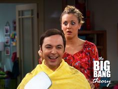 The Big Bang Theory/this was a great scene, when penny cut sheldons hair, big chunk out of back lol