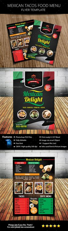 Food Flyer  Flyer Template Print Templates And Business Flyers