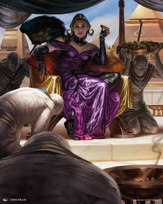 Liliana in Amonkhet (not official title) by Chris Rallis