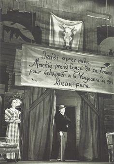 Paris septembre1937  Raymond Rouleau et Renée Saint-Cyr dans L'Opéra de Quat'sous (Kurt Weill et Bertolt Brecht), Théâtre de l'Etoile.