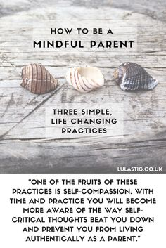 How to Be a Mindful Parent - 3 life changing yet simple practices