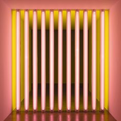 Dan Flavin, Untitled. #inspiration #lights #art #70s #gallery #neon #lighting #installation #retro #artist #danflavin #beautiful #design #icon #momentsindesign