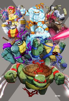 The Teenage Mutant Ninja Turtles meet The X-Men