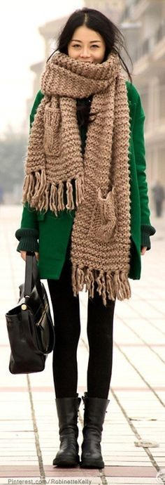 Street Style - I am always trying to find this shade of green in a coat!!!! Does anyone know about this coat?