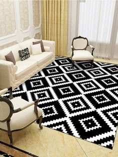 I found this amazing Black And White Geometric Pattern Floor Mats Flannel Water Absorption Antiskid Floor Mat Bath Room Door Mat with AU$49.99,and 14 days return or refund guarantee protect to us. --Newchic