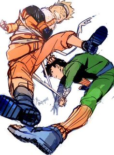 Naruto y Rock Lee