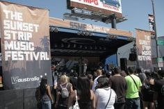 Check out the outdoor Sunset Strip Music Festival #ssmf #hollywood #LA