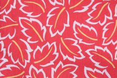 3.7 Yards Robert Allen Tropic Leaves Drapery Fabric in Poppy - Fabric Guru.com
