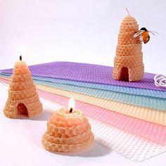 Textured 100% Beeswax Honeycomb Sheets $1.99 per sheet, many colors