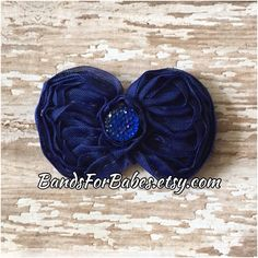 Royal Blue Shabby Chic Bow, Girls Blue Hair Bow, Toddler Barrette, Flower Girl Accessory, Bridesmaid Hair Clip, Alligator Clip, Bow by BandsForBabes on Etsy