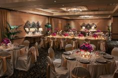 Beautiful shot of our ballroom! L-O-V-E the king's table in the center!