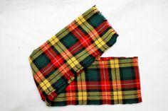 80's Vintage Plaid Wool Scarf Men's by StandoutVintageStore, $18.00