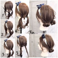 Frisur Frisur in 2019 Kawaii Hairstyles, Scarf Hairstyles, Pretty Hairstyles, Easy Hairstyles, Girl Hairstyles, Korean Hairstyles, Baddie Hairstyles, Casual Hairstyles, Summer Hairstyles