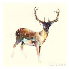 Resultado de imagem para cervo desenho aquarela
