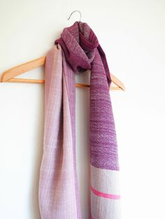 Oversized merino scarf handwoven in mixed colors by Handarbete, $150.00
