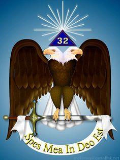 Scottish Rite, Degree emblem, with pyramid and blazing star. Masonic Order, Masonic Art, Masonic Symbols, Ancient Symbols, Famous Freemasons, Big Yachts, Double Headed Eagle, Spiritual Warrior, Eastern Star