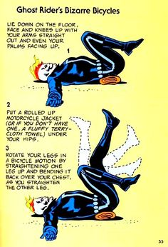 THE BRONZE AGE OF WORKING OUT Visions Of The Mighty Marvel Comics Strength And Fitness Book Circa 1976 Ghost Rider's Bizarre Bicycles