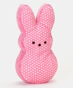 Cute Easter stuffed animal . Pink Polka Dot Peeps Bunny Large Plush Toy by PEEPS® #zulily #zulilyfinds