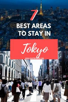 Are you not sure where to stay in Tokyo? Check out this guide with the 7 best areas to stay in Tokyo. Tokyo has over 20 district wards, so it can really be overwhelming to pick the right area for your hotel. It's really important that you stay somewhere c Japan Travel Guide, Tokyo Travel, Tokyo Vacation, Mexico Vacation, Travel Europe, Hotels In Tokyo Japan, Best Hotels Tokyo, Tokyo 2020, Kyoto