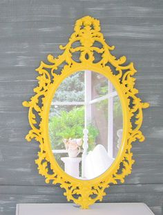 Vintage mirrors for sale 33 x20 ornate french country for Long narrow mirrors for sale